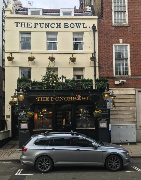 We had lunch at the Punch Bowl, which used to be owned by Madonna and Guy Ritchie.