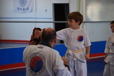 Zeuz's TKD test for green belt: 9/27/09