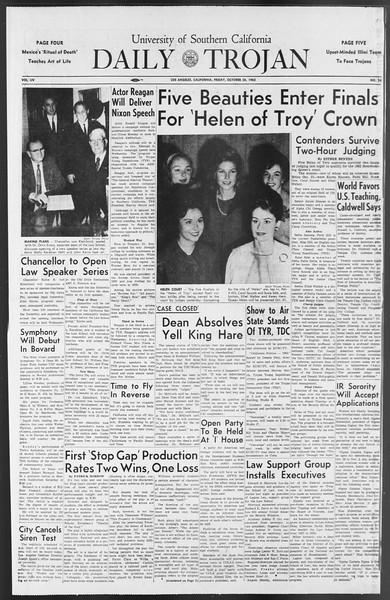 Daily Trojan, Vol. 54, No. 24, October 26, 1962