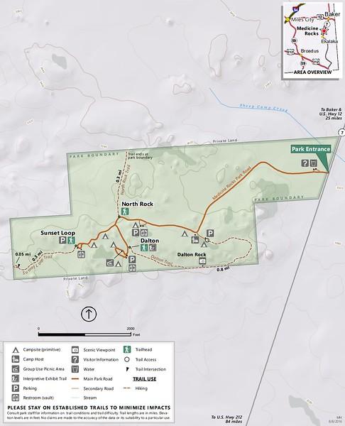 Medicine Rocks State Park (Trail Map)