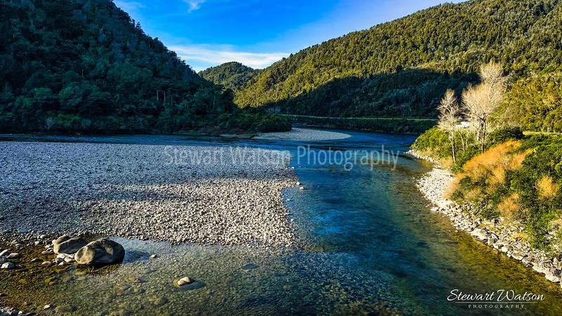 Buller gorge between Westport and Inangahua Junction
