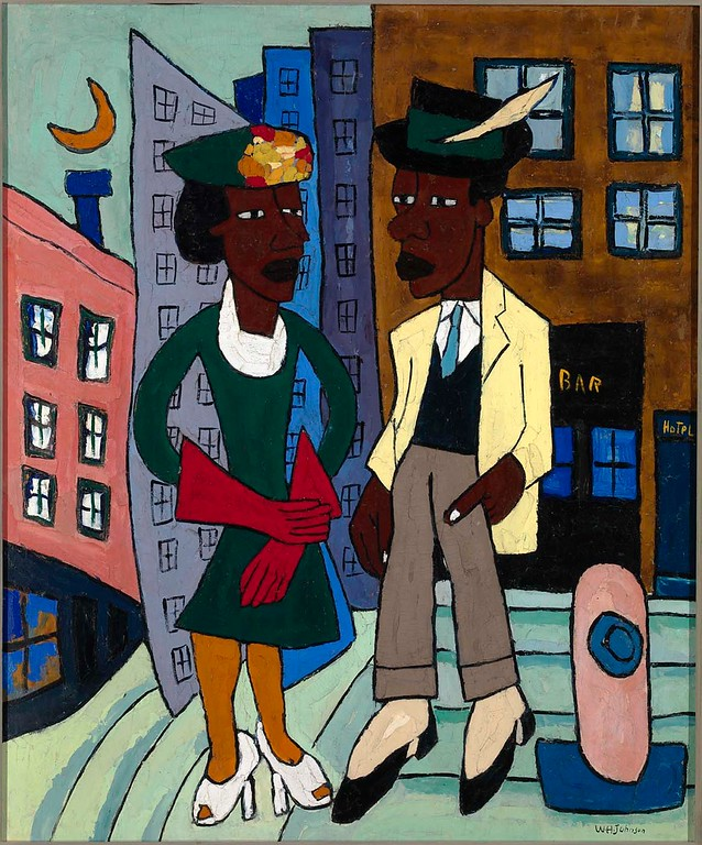 "William H. Johnson, ""Street Life, Harlem"" (c. 1939-40)"