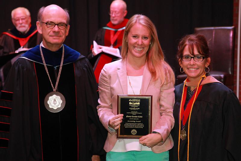 59th Academic Awards Day; Spring 2014. Accounting Award: Nancy Carolyn Cates