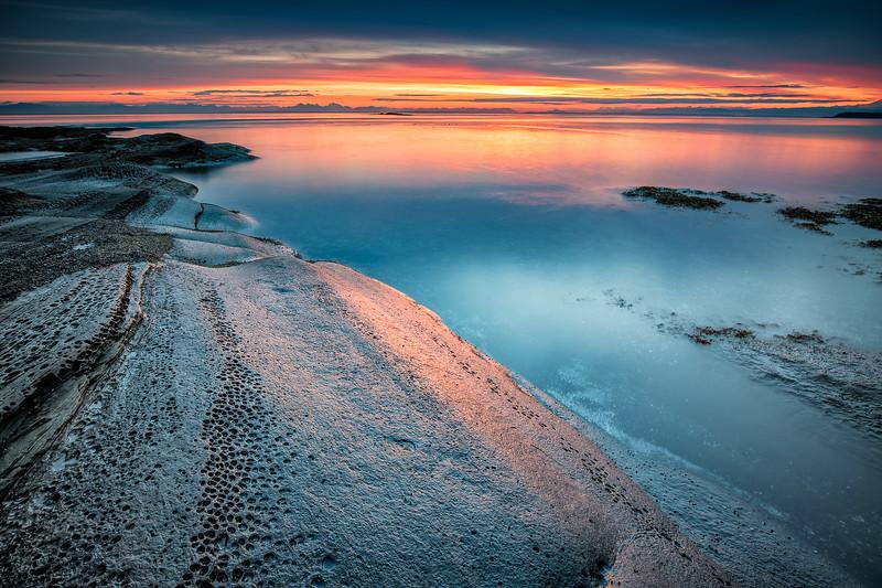 Tafoni - Sandstone on Saturna Sunrise