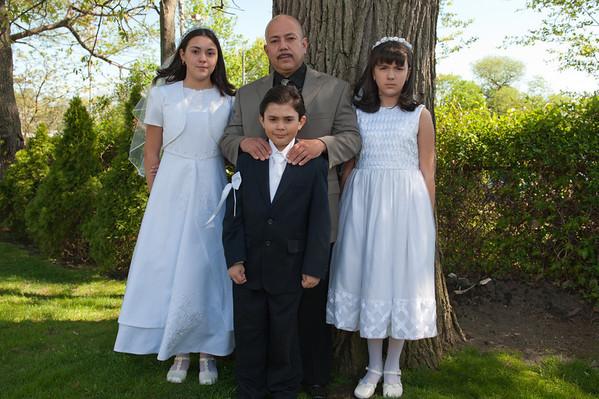 First Holy Communion for Stephanie, Kathy and Sebastian- 4.30.11