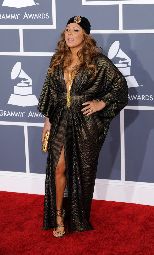 . Tamia arrives to  the 55th Annual Grammy Awards at Staples Center  in Los Angeles, California on February 10, 2013. ( Michael Owen Baker, staff photographer)