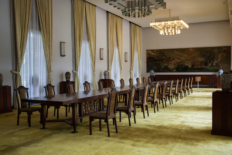 The banquet room inside the Reunification Palace.