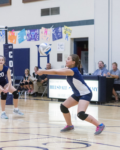2017-10-02 Hillsdale Academy Girl's Junior High Volleyball vs. Waldron