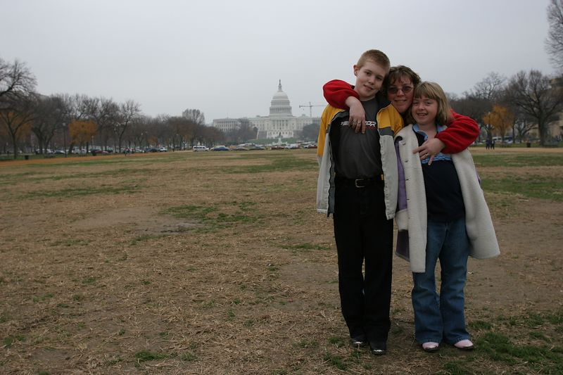 Susan, Aaron & Kyra at the US Capital