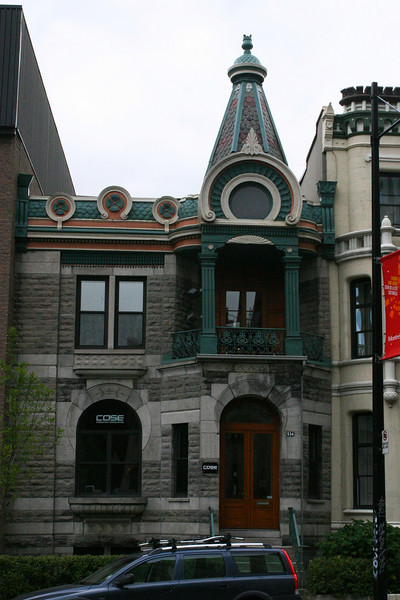 This house stood just across the street from the hotel. Gorgeous. But not unusual in Montreal!