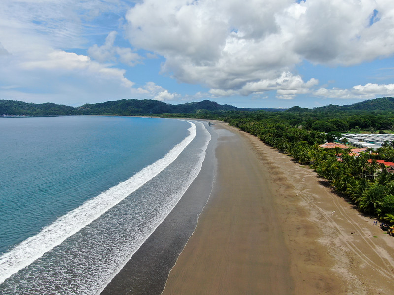 Empty tropical paradise beach in Tambor, Costa Rica