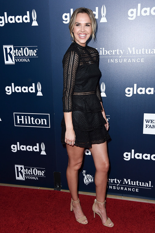 . Arielle Kebbel attends the 28th Annual GLAAD Media Awards at the Beverly Hilton Hotel on Saturday, April 1, 2017, in Beverly Hills, Calif. (Photo by Richard Shotwell/Invision/AP)