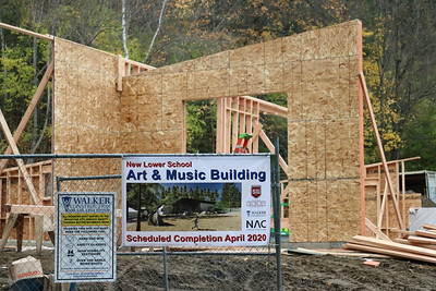 New LS Arts Building Framing 10-22 to 11-1-19