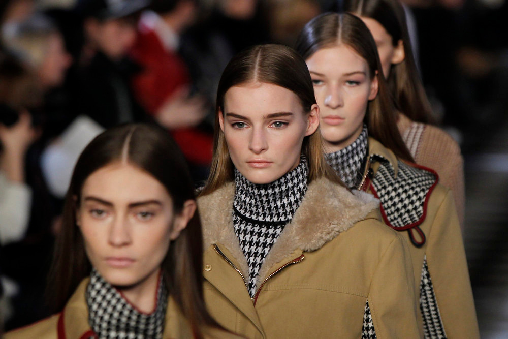 . Models present creations from the Tommy Hilfiger Women\'s Autumn/Winter 2013 collection during New York Fashion Week, February 10, 2013. REUTERS/Lucas Jackson