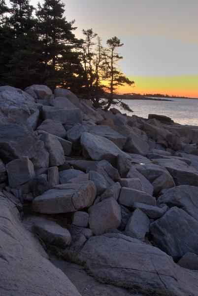Sunrise at Schoodick Point