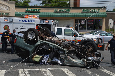 20130722 - North Massapequa - Overturned Auto w/ Entrapment