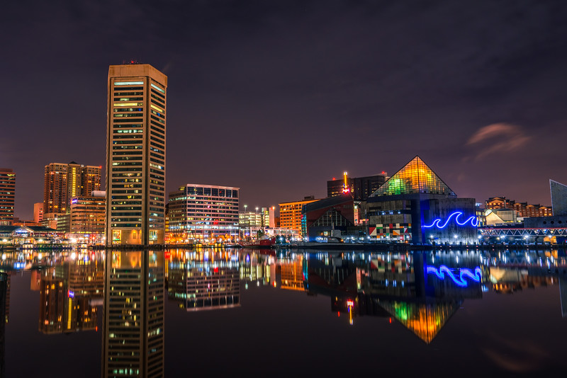 Inner Harbor By Night