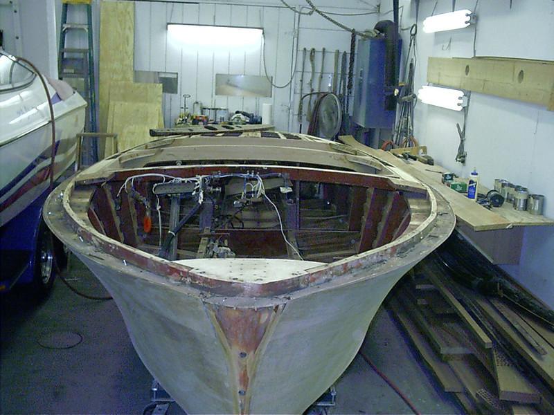 Front deck frames removed.