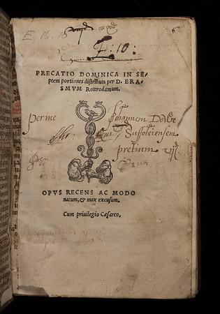 Erasmus and Johann Froben