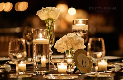 Simple White Candlelit Wedding