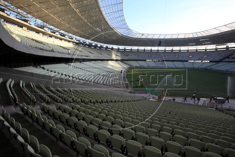 The Castelao Stadium in Fortaleza, Brazil. The stadium is site of both the Confederations Cup 2013 and World Cup 2014. (Australfoto/Douglas Engle)