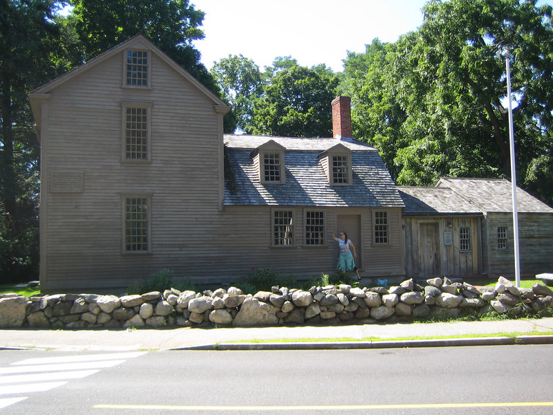 John Hancock house - the plaque on the previous picture is on the left side of the house.