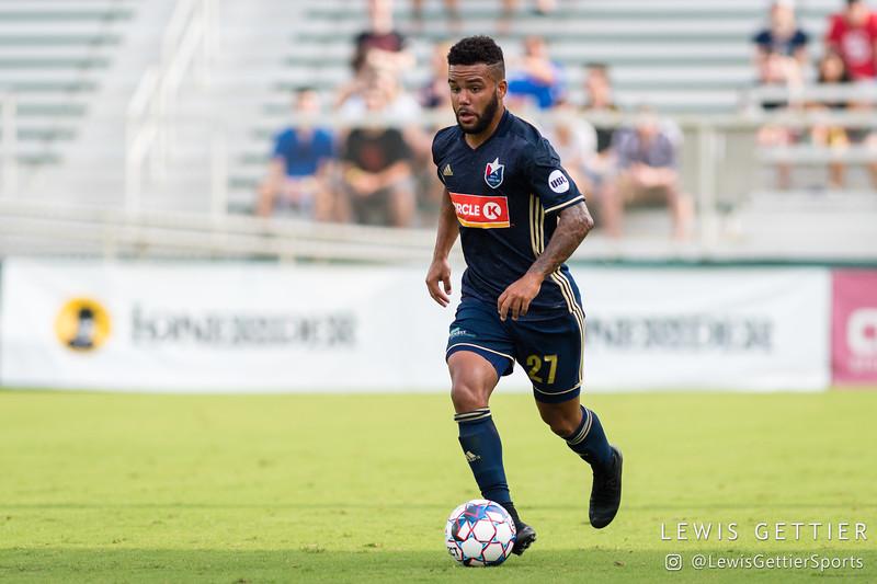 North Carolina FC defender D.J. Taylor (27)