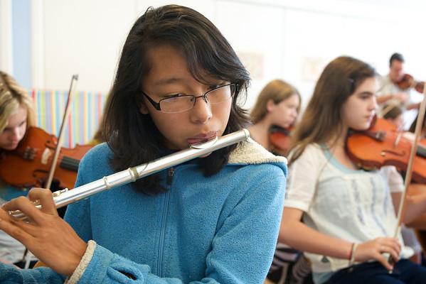 7th & 8th Grade Orchestra Rehearsal