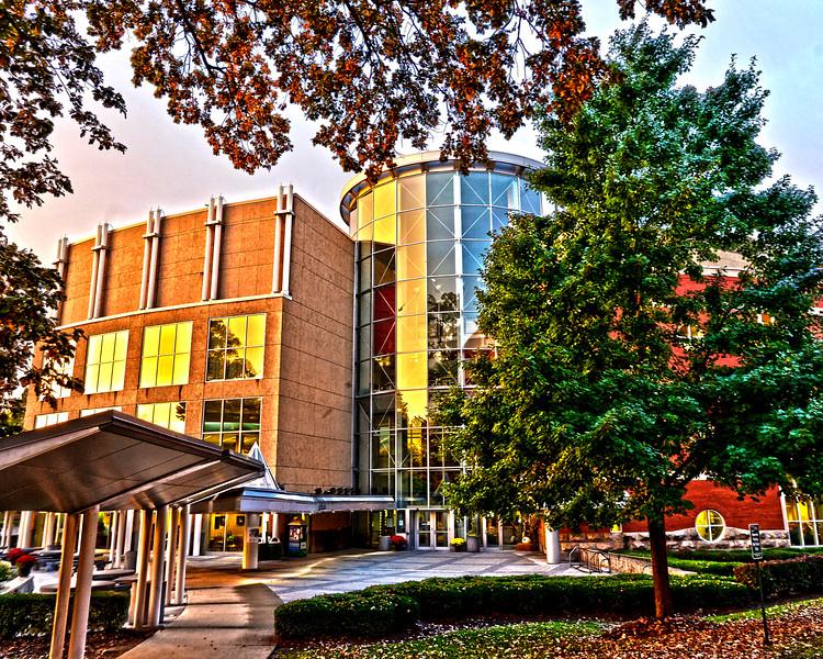 Drinko Library Sunrise Oct. 2014- Rick Haye