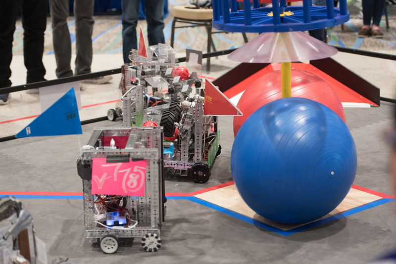 Coastal Bend area students in grades 7-12 developed robots to participate in the FIRST Tech Challenge League Championship. Teams competed in an Alliance format against other teams using a sports model. Saturday January 21, 2017 during the First Tech Challenge at TAMU-CC.