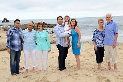 Aleah Three-Year Family Portraits - Little Corona Del Mar Beach, Corona Del Mar, CA