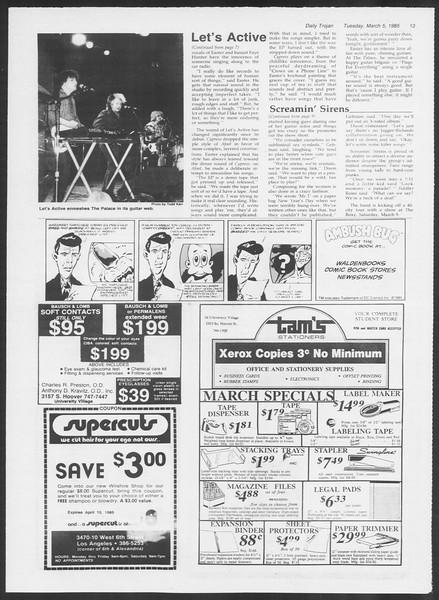 Daily Trojan, Vol. 98, No. 36, March 05, 1985