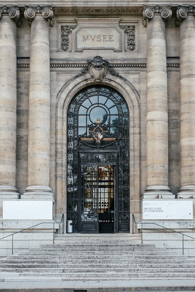 Entrance of the Musee d'art et d'histoire in Geneva