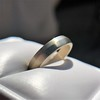 White Gold Men's Band, by Single Stone 3
