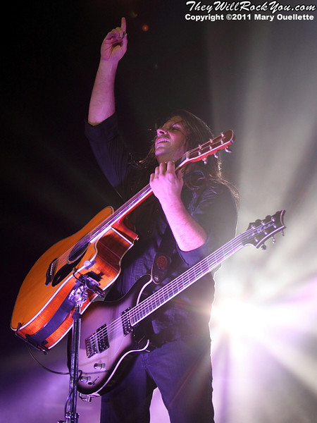"""Staind perform on November 25, 2011 in support of """"Staind"""" at the Mohegan Sun Arena in Uncasville, CT."""