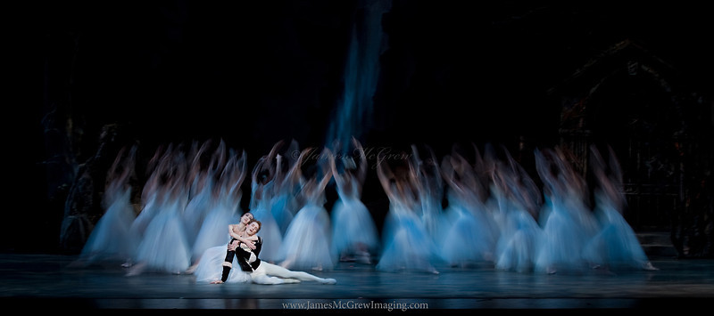 Haiyan Wu (playing Giselle) and Chauncey Parsons (Albrecht), in Oregon Ballet Theatre's premier of Lola de Avila's Giselle.