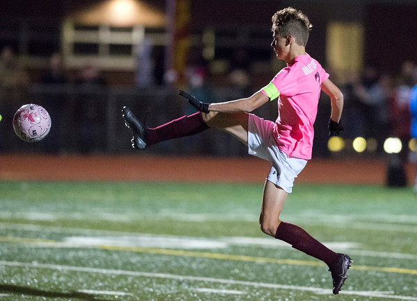 11/04/19 Wesley Bunnell | StaffrrBristol Eastern vs Bristol Central boys soccer on Monday night at Bristol Eastern High School. Bristol Central's David Bowes (8).