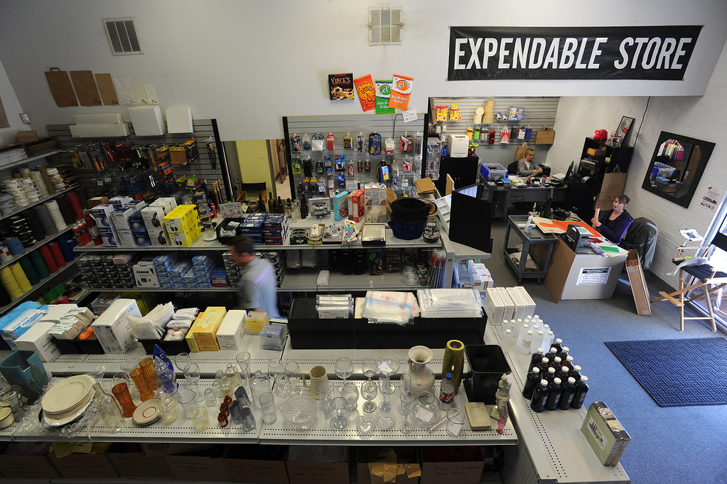 . A wide variety of items are for sale including fake blood, fake medications, and fake glass items. Gregg Bilson, Jr. is the CEO of ISS Independent Studio Services, a prop house that holds hundreds of thousands of items used for motion pictures and television production. Runaway production has an impact on his business. Sunland, CA 12-31-2013. photo by (John McCoy/Los Angeles Daily News)