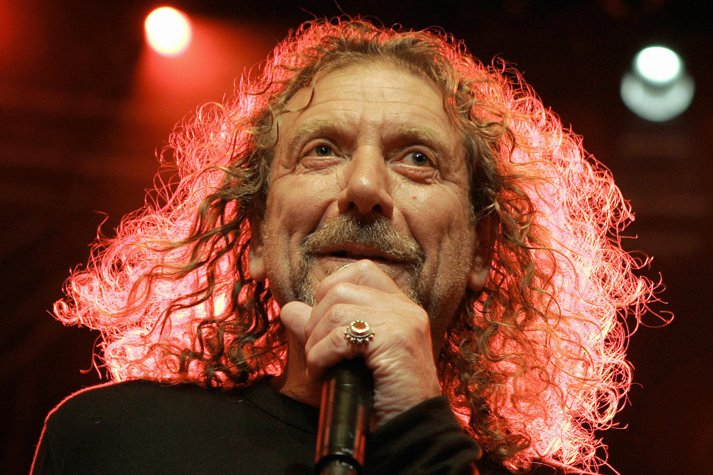 . English rock singer Robert Plant, famous for being the frontman for the band Led Zeppelin, performs during the opening night of the 40th Montreux Jazz festival, on late 30 June 2006 in Montreux. The night was a tribute to Ahmet Ertegun, the founder of the music label Atlantic Records. FABRICE COFFRINI/AFP/Getty Images