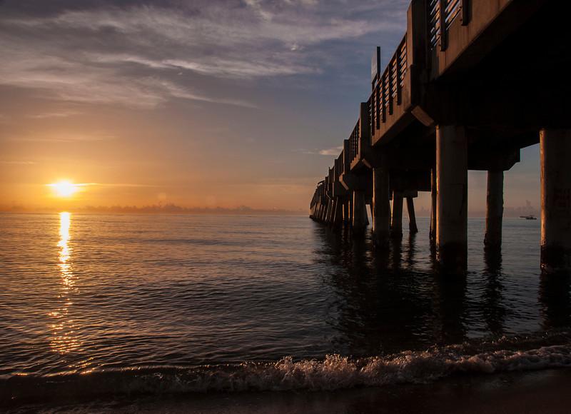 Lake Worth Pier at sunrise