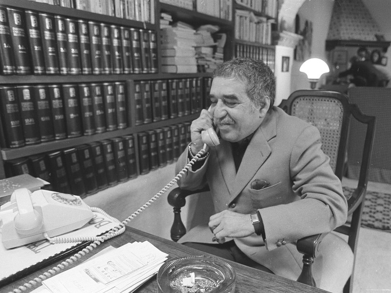 . This undated file photo shows Nobel laureate Gabriel Garcia Marquez at an undisclosed location. Marquez died Thursday April 17, 2014 at his home in Mexico City. (AP Photo)