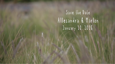 Alessandra and Marlon Save the Date