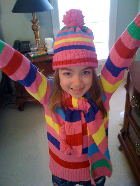 Kate is excited and (colorfully) ready to go ...
