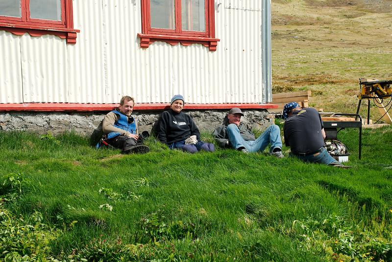 Stefán smiður, Inga smiður, Gunnar og Ingvar.