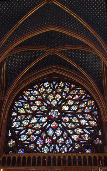 Rose Window--Ste. Chappelle (upper church)--Paris, France