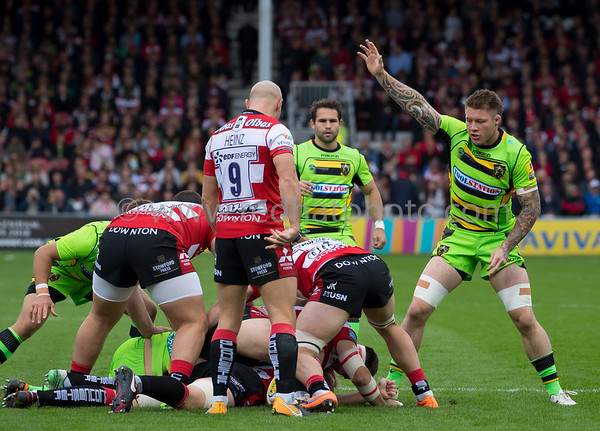 Gloucester Rugby vs Northampton Saints, Aviva Premiership, Kingsholm, 7 October 2017