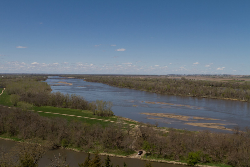 The Platte River, as seen from the observation tower at Mahoney State Park