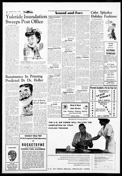 Daily Trojan, Vol. 48, No. 60, December 17, 1956