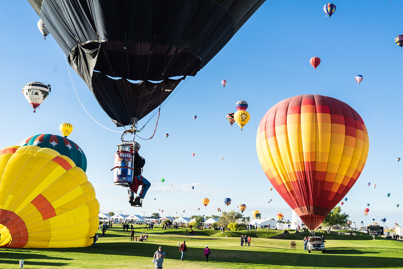 Solo Flight at Balloon Fiesta 2016