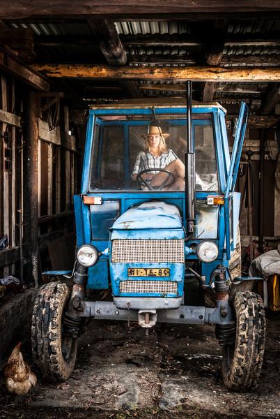 Fotili jsme traktor